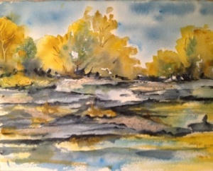 Smith lake Cad. yellow, ochre, cerulean