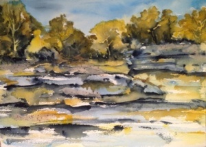 Smith Lake Paynes Gray and Ochre